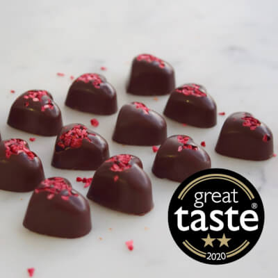 Award-Winning 75% Solomon Island Raspberry Hearts