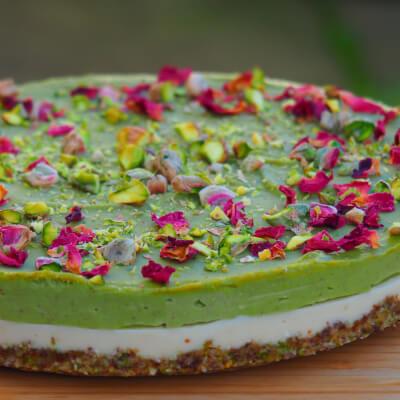 Pistachio & Rose Raw Cake
