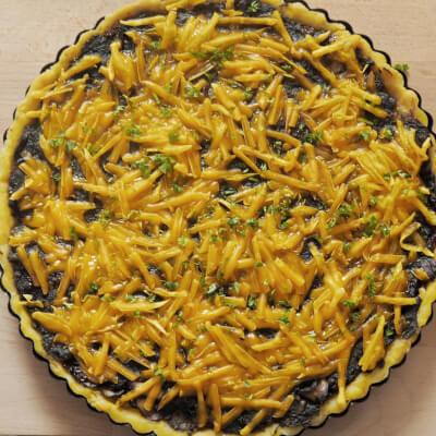 Spinach, Mushroom And Sundried Tomato Quiche