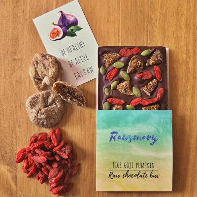 Fig, Goji & Pumkin Raw Chocolate Bar