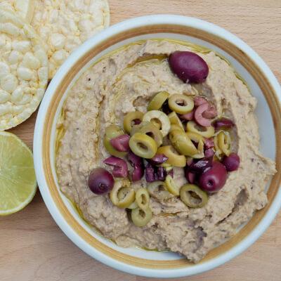 Hummus With Kalamata & Green Olives