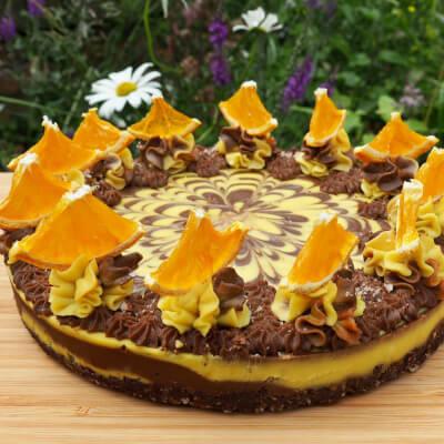 Chocolate & Orange Raw Cake