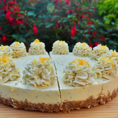 Lemon & Poppy Seed Raw Cake