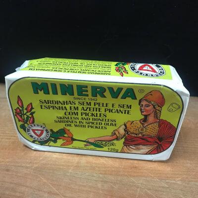 Minerva Sardines In Olive Oil With Pickles