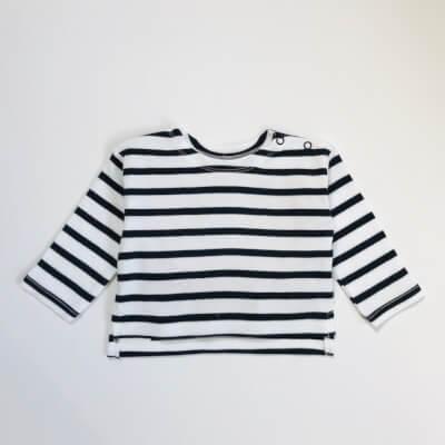 Organic Cotton Mini Breton T-Shirt