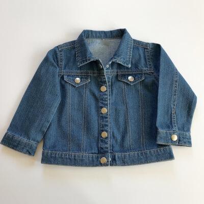 Organic Cotton Mini Denim Jacket