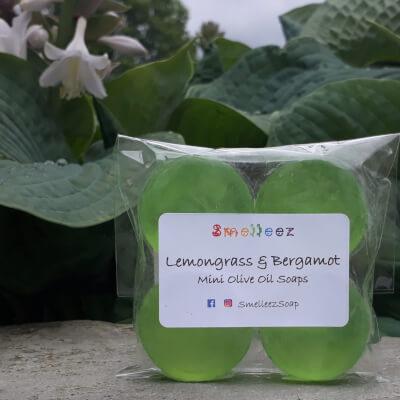 Mini Olive Oil Soap Bars (Lemongrass & Bergamot)