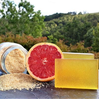 Grapefruit & Brown Sugar Olive Oil Soap Bar