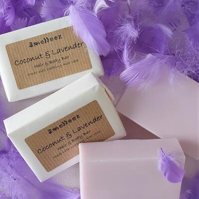 Coconut & Lavender Hair & Body Bar