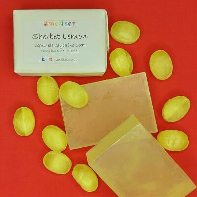 Sherbet Lemon Vegetable Glycerine Soap Bar