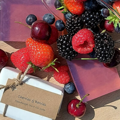 Cherries & Berries Olive Oil Soap Bar