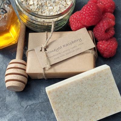 Honeyed Raspberry  Goats'milk Soap Bar