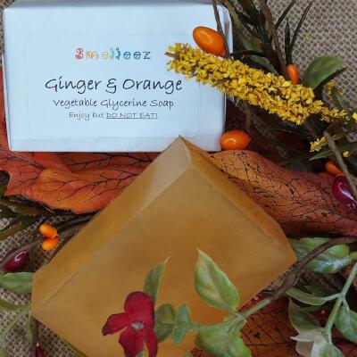 Ginger & Orange Vegetable Glycerine Soap Bar