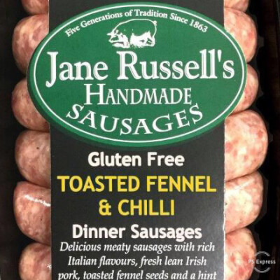 Toasted Fennel & Chilli Dinner Sausages