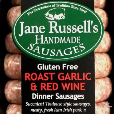 Roast Garlic & Red Wine Dinner Sausages
