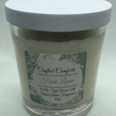 Fresh Linen Soy Scented Candle