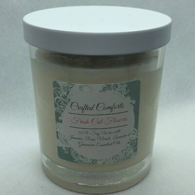 Fresh Cut Flowers Soy Aromatherapy Candle