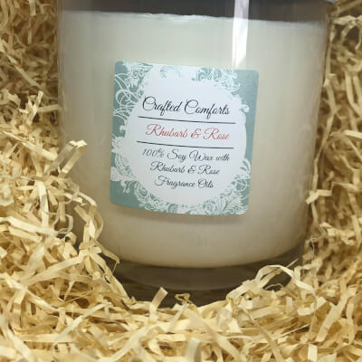 Rhubarb & Rose Soy Scented Candle