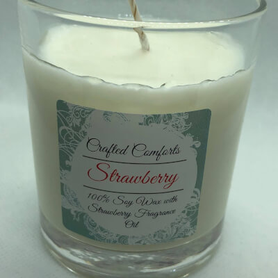 Strawberry Soy Scented Candle