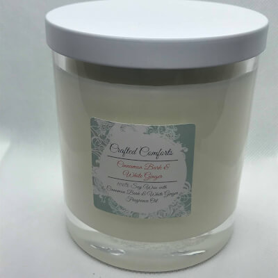 Cinnamon Bark & White Ginger Soy Scented Candle