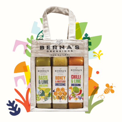 Berna's Gift Bag With 3 Dressings