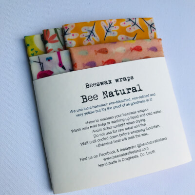 Beeswax Wraps Set Of 5 (Warm Shade Patterns)