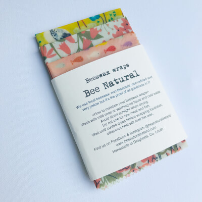 Beeswax Wraps Set Of 3 (Warm Shade Patterns)