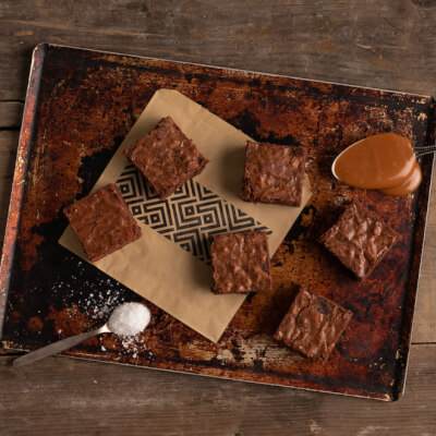 Single Salted Caramel Brownie