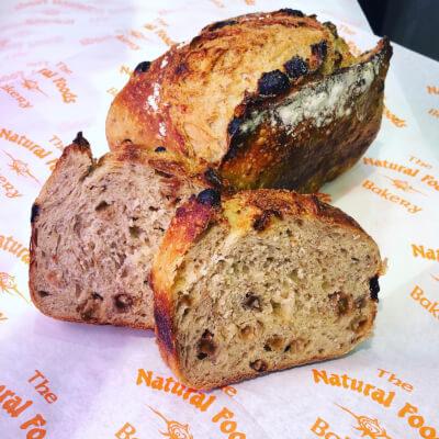 Raisin Sourdough Bread Loaf