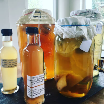 Kombucha Vinegar Elderflower, Hibiscus