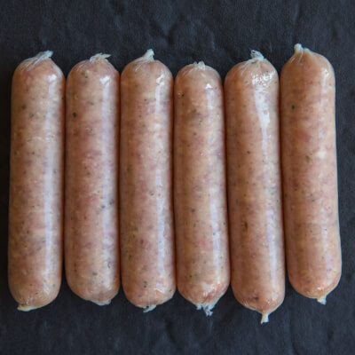 Lincolnshire Chipolata Sausages  (Pack Of 8)