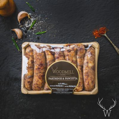 Partridge & Pancetta Sausages