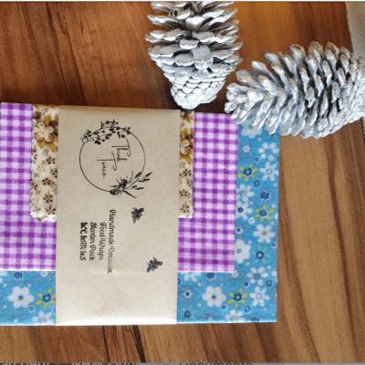 Handmade Beeswax Food Wraps Starter Pack