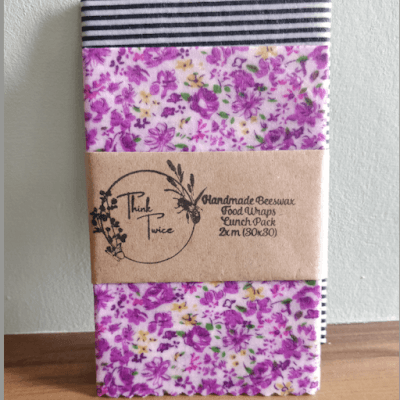 Handmade Beeswax Food Wraps Lunch Pack