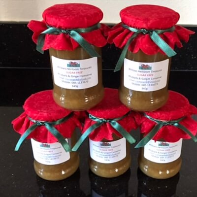 New - Rhubarb And Ginger Conserve - Sugar Free