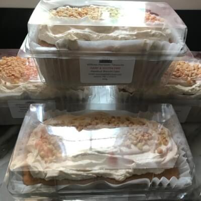 Hazelnut Biscotti Cake