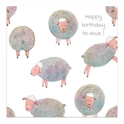 Greeting Card - Happy Birthday To Ewe