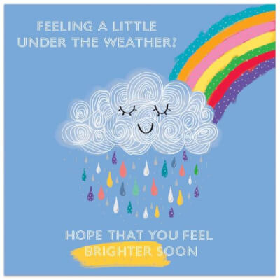 "Greeting Card ""Feeling A Little Under The Weather"""
