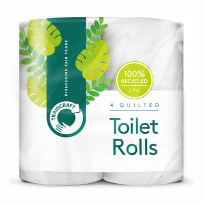 Traidcraft Recycled Toilet Tissue (Pack Of 4)