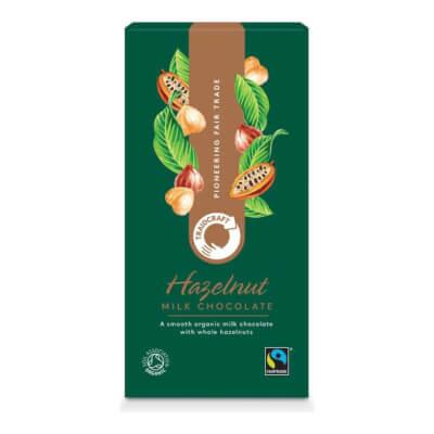 Traidcraft Organic Milk Chocolate With Hazelnuts