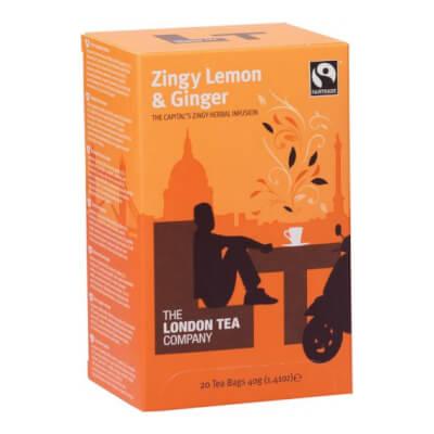 London Tea Company Zingy Lemon & Ginger  Tea Bags (20 Bags)