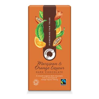 Traidcraft Organic Dark Chocolate With Marzipan & Orange Liqueur