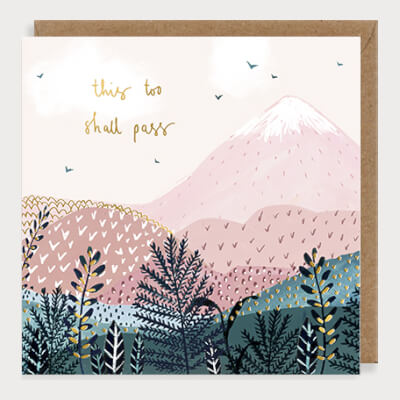 Louise Mulgrew Greeting Card - This Too Shall Pass