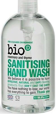 Bio-D   Sanitising Hand Wash - Rosemary And Thyme