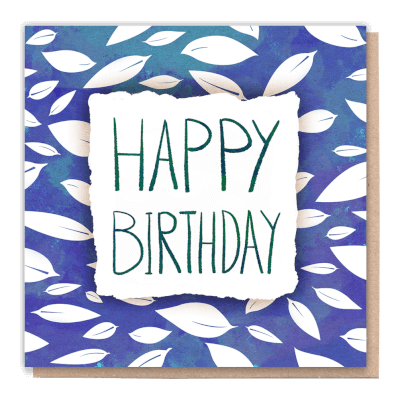 "Tree Card ""Birthday Leaves""  Card Contains Flower Seed Token"