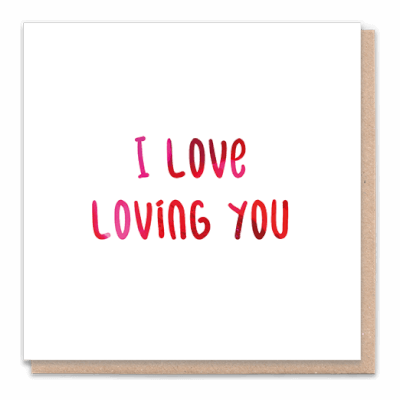 "Tree Card ""Love Loving You""  Card Contain Flower Seed Token"