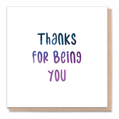 "Tree Card ""Thanks For Being You"". Card Contains Flower Seed Token"