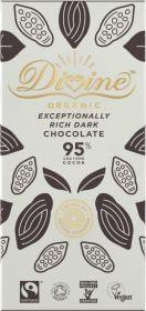 Divine Organic 95%  Rich Dark Chocolate