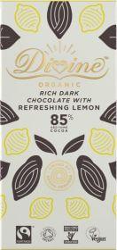 Divine 85% Lemon Dark Chocolate