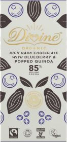 Divine Dark Chocolate With  Quinoa And Blueberry